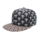 Custom unisex 6 panel flat bill plain propeller led scrolling trucker mesh flat bill baseball hat