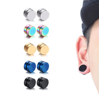 Fashion Jewelry No Hole Men Stainless Steel magnetic earrings for men