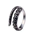 Titanium Rings Good Quality Promotional Fashion Unisex Stainless Steel Octopus Titanium Rings