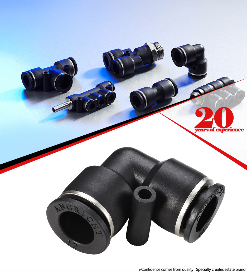 Factory Supplier plastic pneumatic one touch tube fitting pu bw  tube  fittings