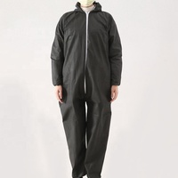 Protective Disposable Microporous Breathable Coveralls Suit with Hood Elastic at Cuffs