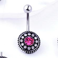 2 шт хирургическая сталь пупка кольцо штанга циркон сердце пирсинг сексуальные пупка кольца пирсинг живота(Китай)