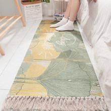 Ретро-ковер, льняное плетеное одеяло с кисточками, ковер, напольный коврик, дверь, спальня, хлопковый геометрический диван, гостиная, домашн...(Китай)