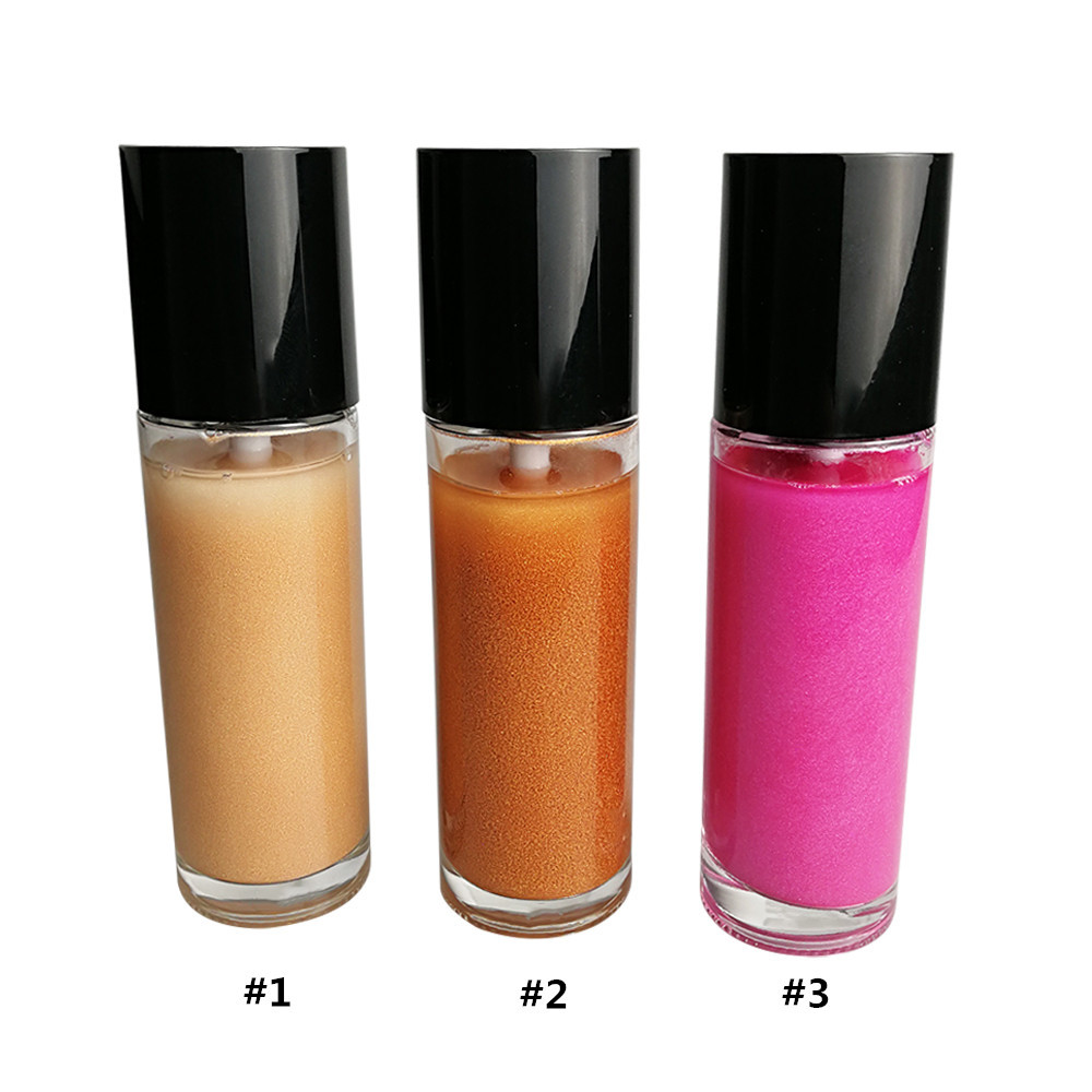 High Quality Face Body Diamond 3Colors Oem Long Lasting Vegan Spray Packaging Liquid Makeup Private Label Highlighter