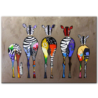 Abstract Zebra Canvas Art Paintings On The Wall Colorful African Animals large modern oil painting abstract canvas wall art
