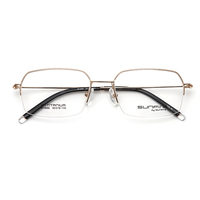 Frames glasses optical eyewear half rimless Titanium for men