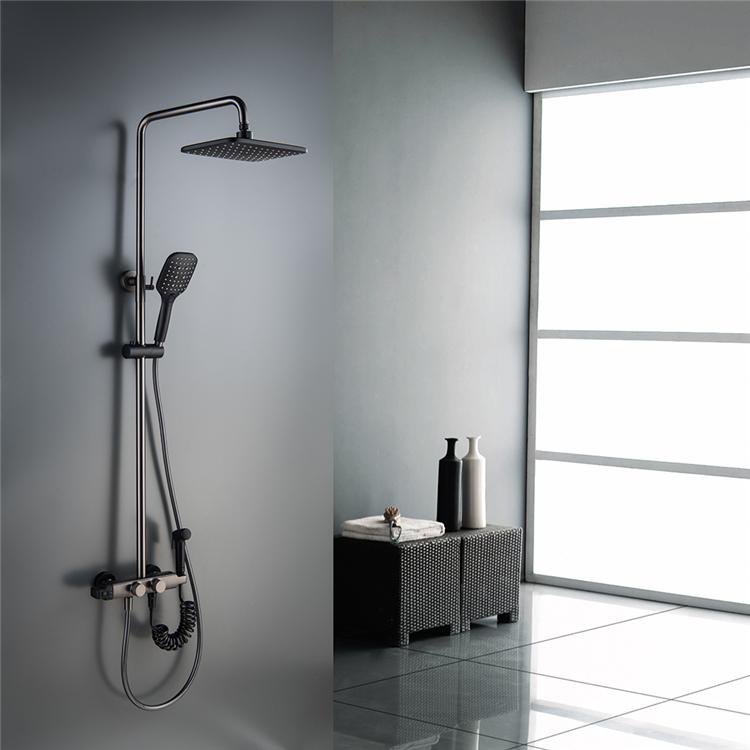 HIDEEP Bathroom Shower Mixer Set with Bidet Spray 3 Function Hand Shower Thermostatic Rain Shower Faucet