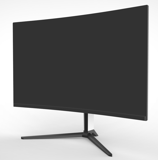 Frameless 27 Inch 165Hz LCD Curved Computer Monitor With <strong>V</strong> shape adjustable stand
