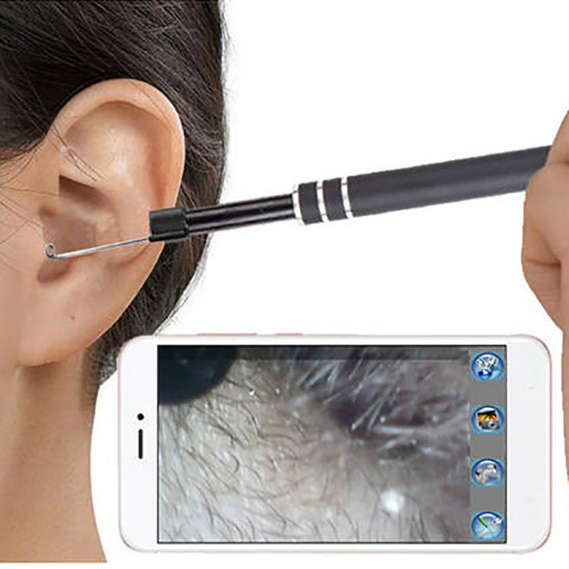 In Ear Cleaning Endoscope USB Visual Ear Spoon 5.5mm 3 in 1 Camera PC Nose Mouth Health Care Otoscope visual Home Tool