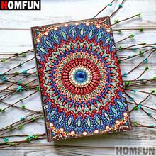 HOMFUN A5 блокноты 5D DIY алмазная живопись специальная форма Дневник Книга Алмазная вышивка крестиком Стразы Декор подарок(Китай)