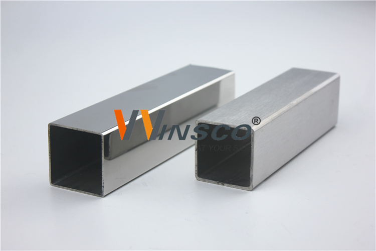 Factory direct wholesale 201 304 316L welded Stainless steel square pipe tubing