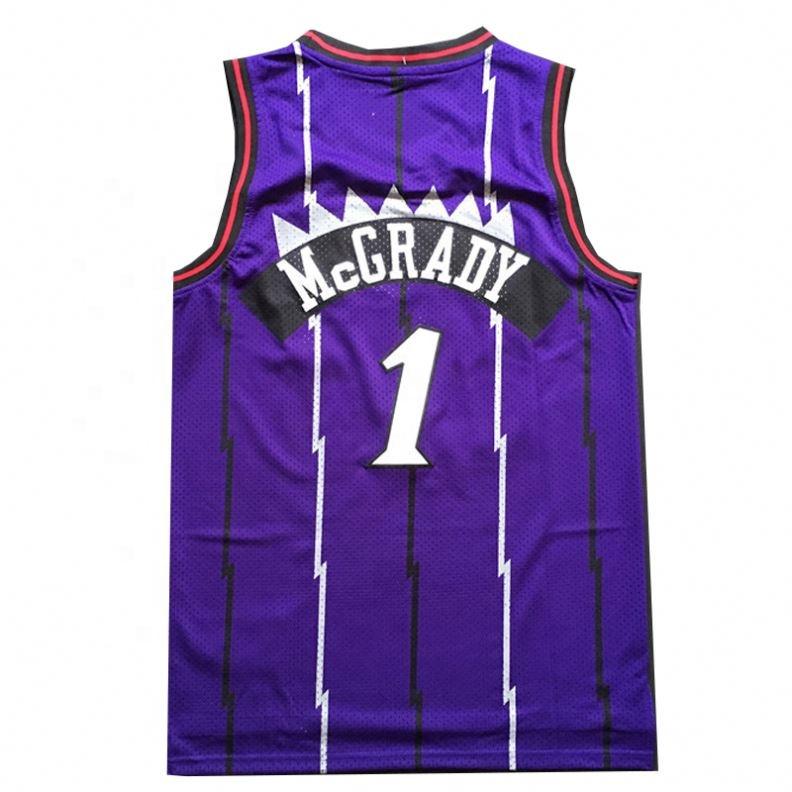 Высокое качество оптом Трейси Макгрейди Джерси сшитые майки баскетбол