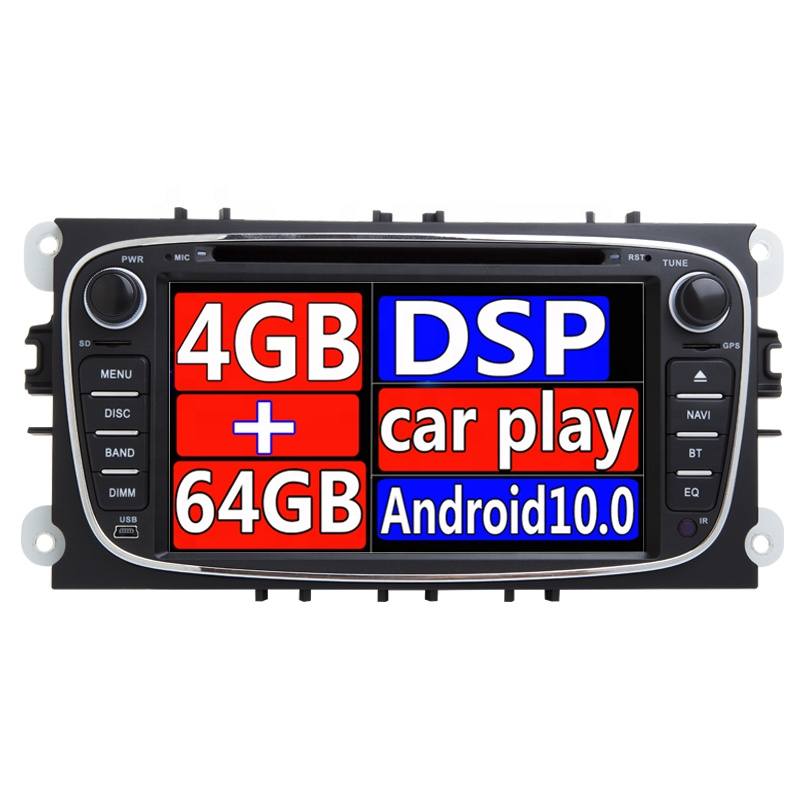 Xonrich AutoRadio 2 Din Android 10.0  system Car DVD radio  for Ford/Mondeo /Focus Turnier 2008-2011 GPS Navigation BT Wifi  MP3