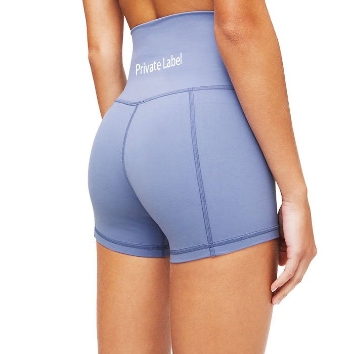 Womens High Waist Yoga Shorts Lightweight Breathable Tight Workout Running Leggings Tummy Control Compression Plus Size Short
