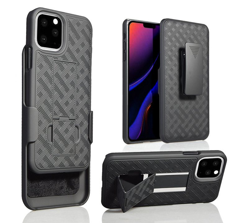 Para iPhone11 Pro Heavy Duty Rígido Rugged Armadura Protetora Coldre Kickstand Belt Clip Giratório Combo Caixa Do Telefone Shell Para o iphone 11