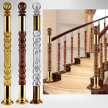 90mm Clear transparent  Stainless Steel Acrylic Pillars, Plexiglass Railing