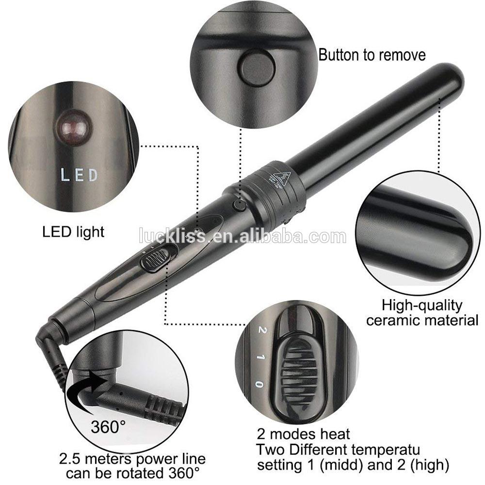 להחלפה שיער רולים 6 ב 1 LED תצוגת שיער ספירלת מסלסל שיער מסלסל ptc חימום אלמנט רוטרי רולר ברזל