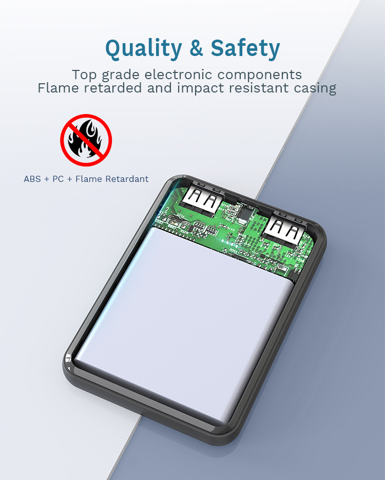 Super Flat Portable Slim Pocket Small Size 5000 mAh Phone External Battery Charger 5000mAh Mini Power Bank