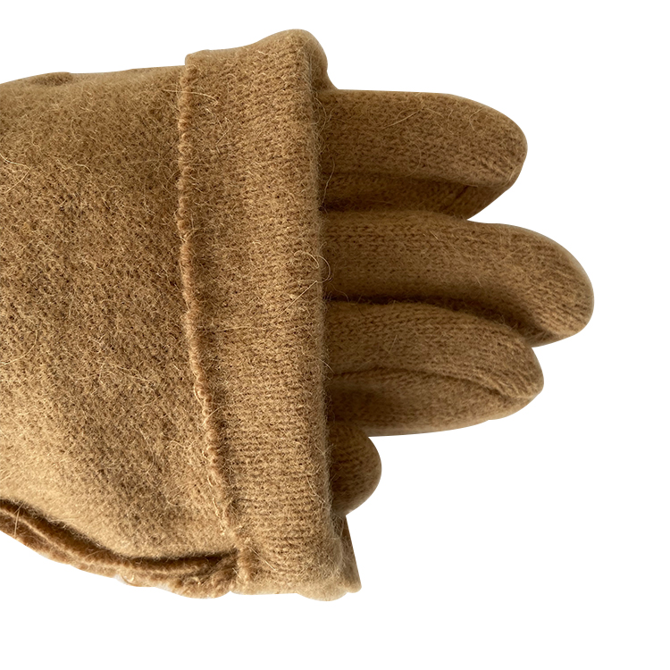 woman wool Champagne knitting suede cashmere gloves
