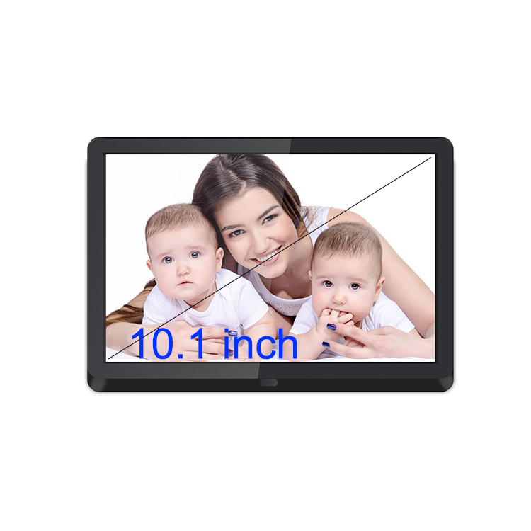 1280*800 hd auto slideshow 10 inch black IPS screen hd digital picture frame