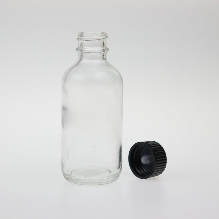 september good rate clear boston round glass bottle 60ml <strong>olive</strong> <strong>oil</strong> container with phenolic cap 2oz for essential <strong>oil</strong>
