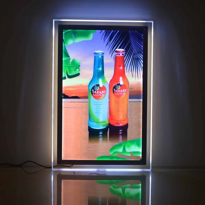 Led Sheet A4 Picture Frames Led Backlit Crystal Light Frame Light Box