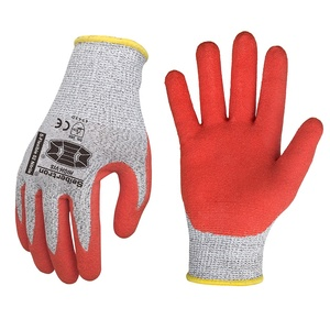 Seibertron S-Flexible 02 13G HPPE Liner Nitrile Dip Palm Coating Anti-Cut Level 5 Resistant Safety Work Gloves PPE Hand Glove