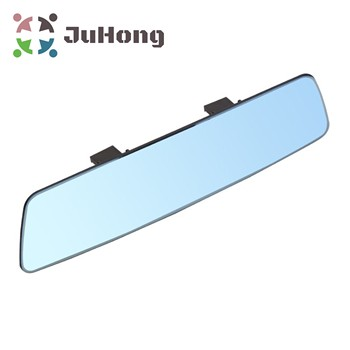 280mm Blue Tint Wide Angle Mirror Frameless Rear View Mirror Shatter Proof Easy Installation Clip-on Mirror New Car Accessories