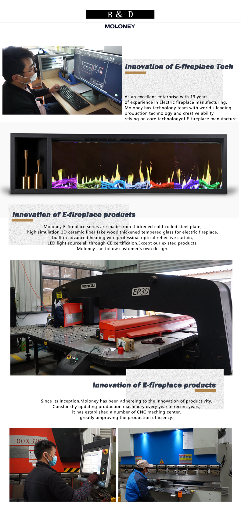 Popüler enerji tasarrufu küçük kaliteli dekoratif elektrikli şömine