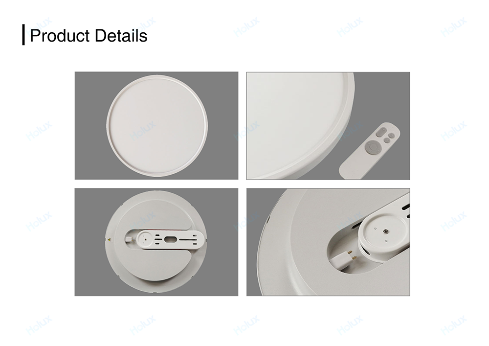 Quick installation CRI95 RG0  ultrathin dimmable remote control acrylic round square led light for home ceiling lamp
