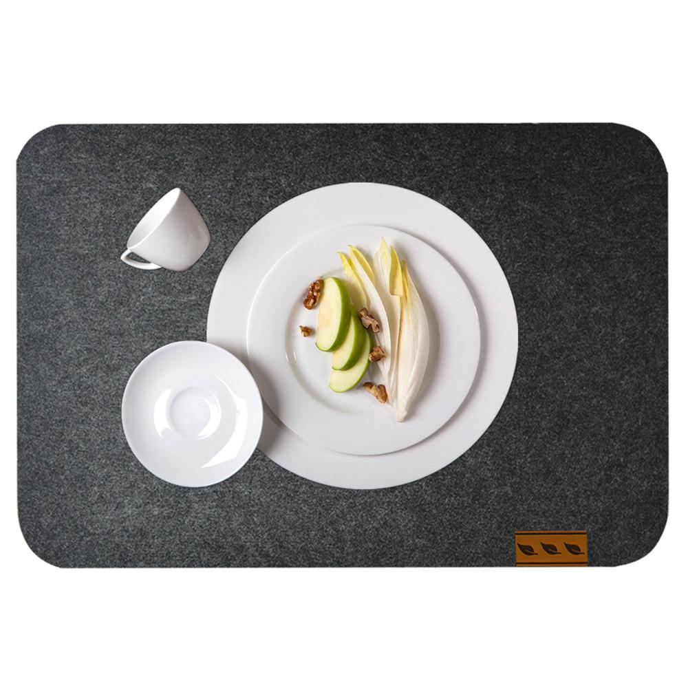 """Fieltro manteles individuales de 4-16 """"x 12"""" de ajustes de lugar de fieltro para la Mesa de la cocina ¡mesa de café y espacio de oficina"""