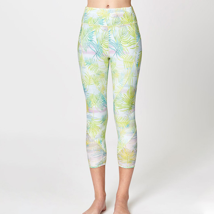 Wholesale Full Dye Non See Through High Waisted Gym Yoga Polyester/Spandex Leggins For Women
