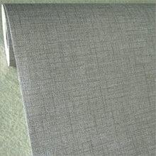 Одноцветные рулонные обои из ПВХ, винтажная имитация белья, водостойкая наклейка для гостиной, спальни, серая настенная бумага(Китай)