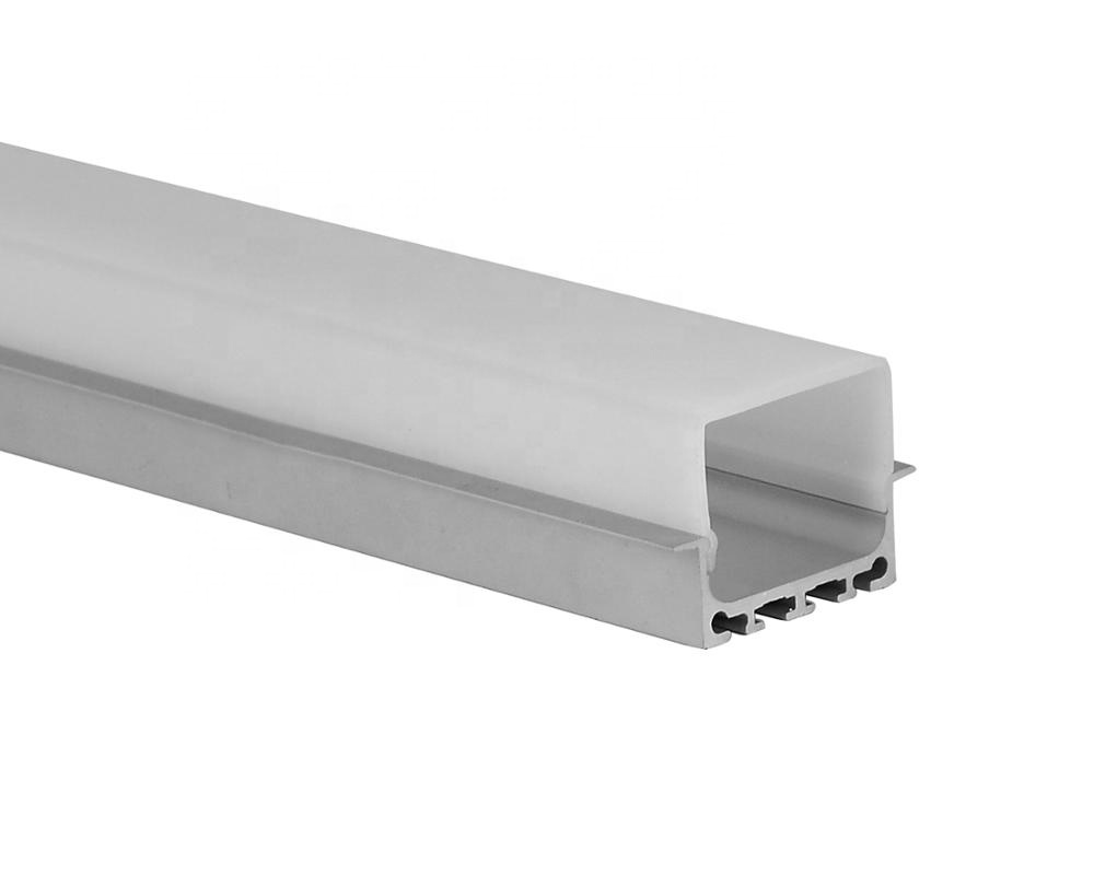 Recessed Mount LED strip lights in an aluminum LED profile