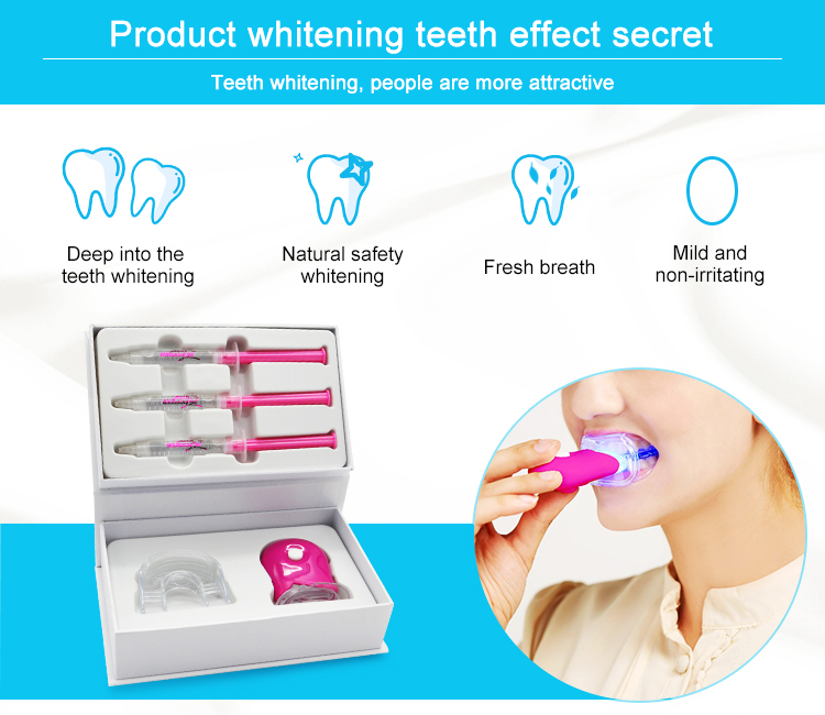 Beautiful Smile Double Layer Blanchiment Dentaire Teeth Whitening Kits Private Logo
