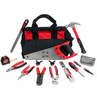 Hispec 50pc Home Repair Tool Bag Garden Hand Tool Kit With Handle