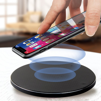 IceBingo Mobile Phone Acryl ABS Fast Charging Stand Usb 5V/2A 5V/1A Crystal Wireless Charger