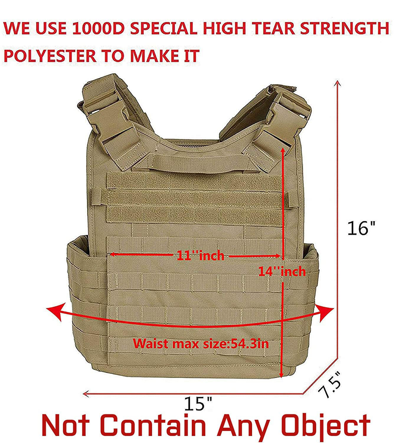 BSCI factory  premium breathable combat training adjustable Military army modular tactical vest