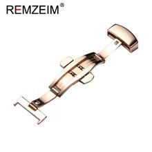 Новая пряжка с узором в виде рыбьей чешуи, автоматическая пряжка с двойным щелчком, ремешок из нержавеющей стали, кнопка 12, 14, 16, 18, 20, 22 мм(Китай)