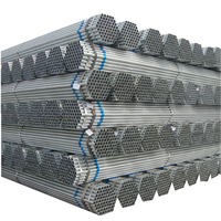 high quality 6m length hot dip welded galvanized round steel pipe