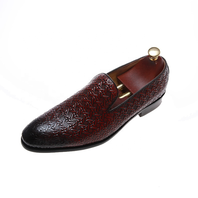 Luxury brand British Style Formal Shoes Men Dress Loafers Genuine Leather Men's Slip-on Shoes Handmade Office Shoes for men