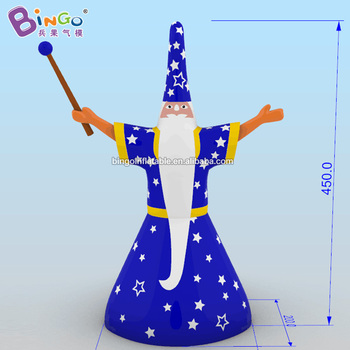 GREAT HANDMADE 4.5mh inflatable star magician aerated enchanter cartoon decoration made to order