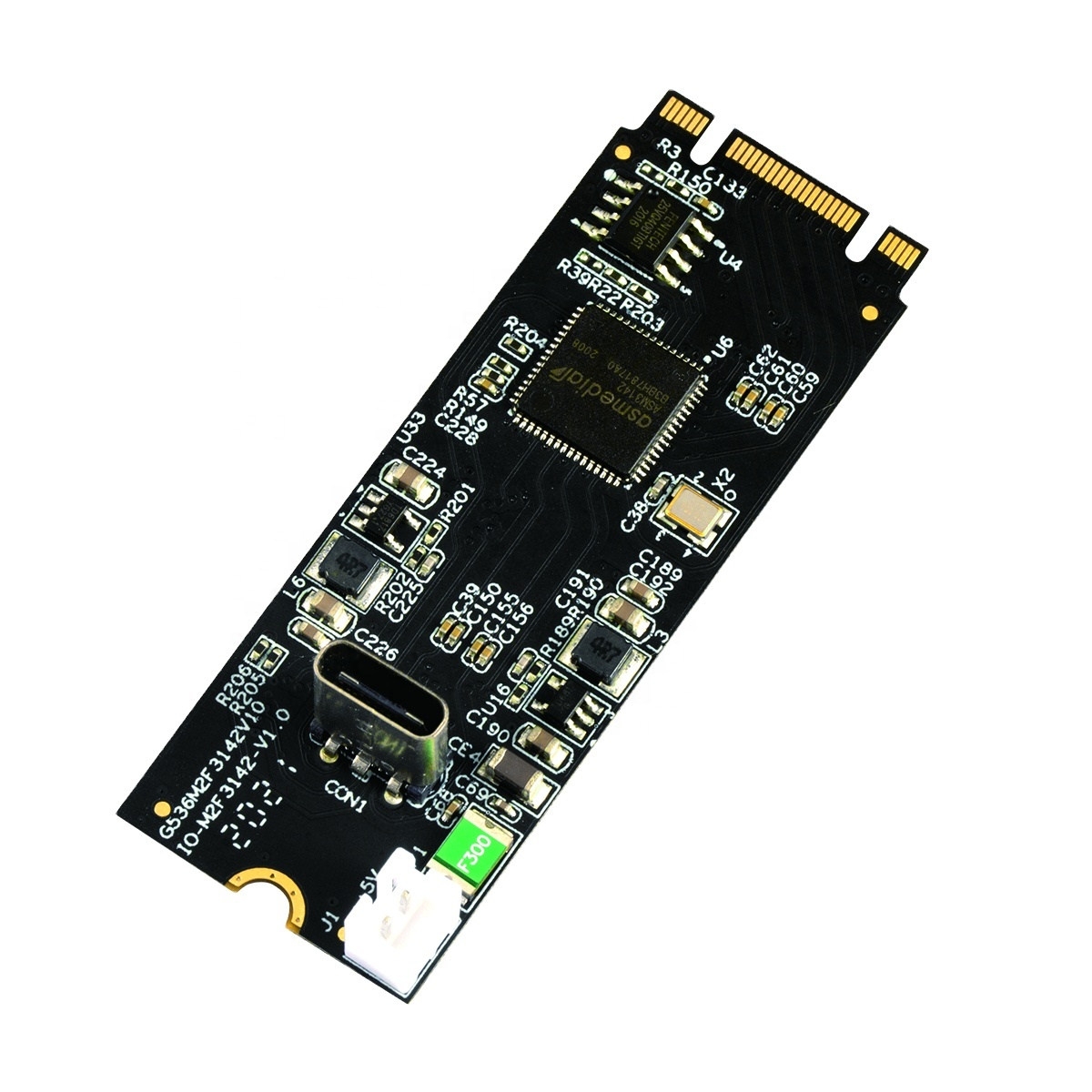 IOCREST M.2 B Key and M Key to USB3.2 Gen2 Type-C host high speed up to 10 Gbps controller Card 22x60mm Small Size
