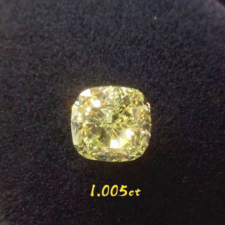 SGARIT wholesale loose <strong>diamond</strong> for fine gold jewelry making FLY VS 1.005ct Natural Yellow <strong>Diamond</strong>