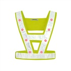 High visibility flashing bike led reflective traffic safety vest products