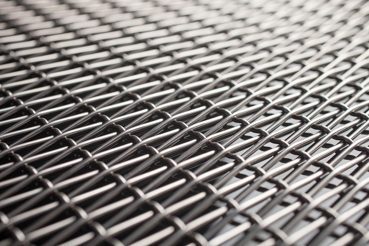 Decorative Linq woven metal mesh for wall cladding