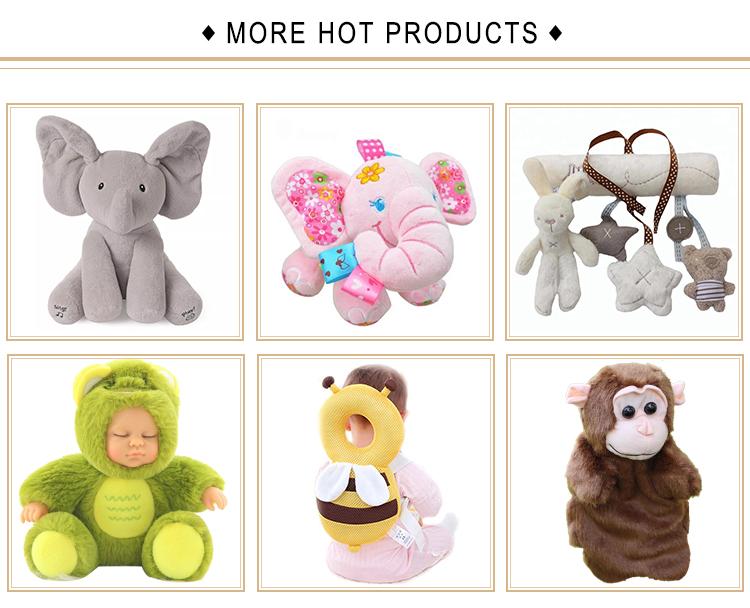Giocattoli di peluche Del Bambino Sonagli Animale Campane A Mano Animale Appena Nato elefante/scimmia/lion/coniglio giocattolo