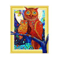 5d DIY Patterns Cute Owl Diamond Embroidery Rhinestone Painting Kits for Adults Kids