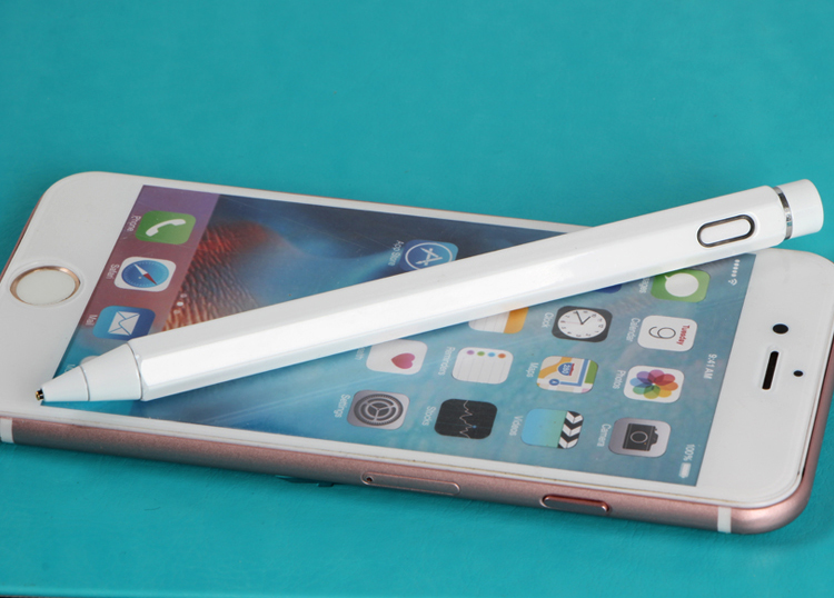 Fine point tip phones metal active stylus touch up pens for ipad