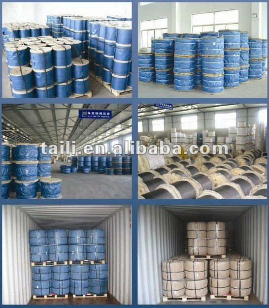 linear contact ungalvanized steel wire ropes